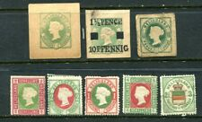 Selection of Mint Stamps and Cut Squares - HELIGOLAND
