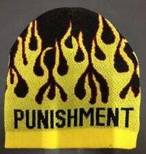 Yellow Flamed 100% Acrylic Skull Cap Beanie