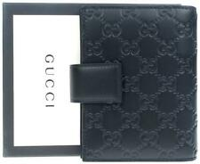 d5f365db628 NEW GUCCI GUCCISSIMA BLACK LEATHER ORGANIZER PLANNER CARD HOLDER WALLET  W BOX