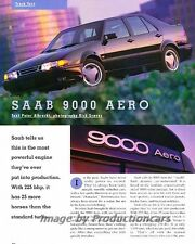 1993 SAAB 9000 Aero Original Car Review Report Print Article J842