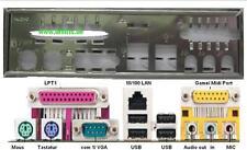ATX diafragma i/o Shield ASRock p4i45 k7s41gx k7s8 k7vt #3 Io Shield bracket New