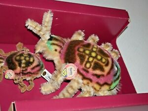 Steiff Spidy Set of Two stuffed replica spiders with box Museum Collection