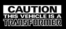 Transformers Stickers caution vinyl decal