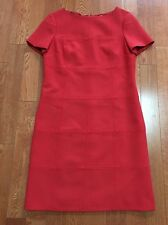 $655 TORY BURCH RED Wool DRESS SIZE 10