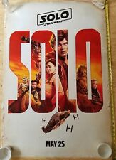 Authentic SOLO A STAR WARS STORY Original 27x40 DS Movie Theater Poster