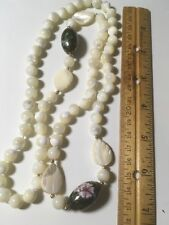 Chinese Export Jewelry Mother of Pearl Cloisonné Necklace