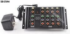 4-Way Component RGB Audio Video Distribution Amplifier