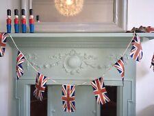 Vintage British Union Jack Flag Textile Fabric Bunting Banner Decoration Party