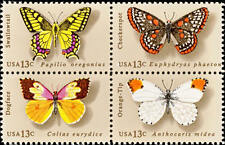 1977 13c American Butterfly, Block of 4 Scott 1712-15 Mint F/VF NH