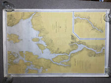 1959 US Coast and Geodetic Survey Map Chart 311 Penobscot River MAINE 27x39
