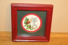 Bird Framed Picture Homco Christmas Holiday Picture Joyful we Adore Thee