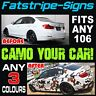 PEUGEOT 106 CAMO GRAPHICS STRIPES DECALS STICKERS GTI PUG 1.1 1.3 1.4 1.5 1.6 D