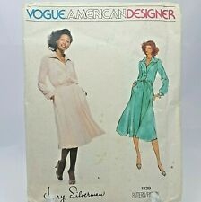 Vtg 70s Jerry Silverman Design Womens Shirtdress Vogue Pattern 1829 Sz 14 Uncut