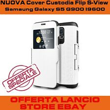Cellulare Samsung Galaxy S5 I9600 G900 custodia resistente bianca flip case