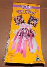 Cheerleaders Spirit Stick Kit Go Team Party & Spirit Mini Poms Pink 69C