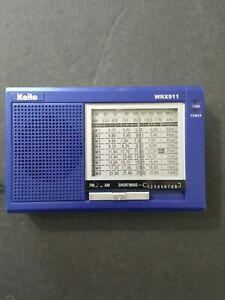 "Kaito WRX-911 Portable AM/FM Shortwave Radio Receiver Blue 4.5/8""×2.7/8"""