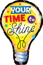 """GRADUATION PARTY SUPPLIES 40"""" YOUR TIME TO SHINE QUALATEX FOIL HELIUM BALLOON"""