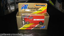 MATCHBOX AUSTRALIAN COLLECTORS MODEL AUSTRALIA POST MB60 FORD TRANSIT LTD ED