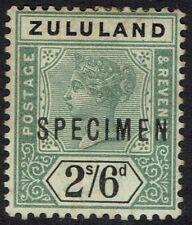 ZULULAND 1894 QV SPECIMEN 2/6