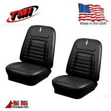1968 Camaro Coupe Deluxe Black Front & Rear Seat Upholstery- By TMI