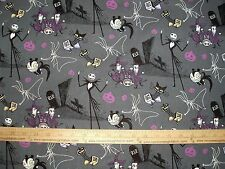 Cotton Fabric Nightmare Before Christmas Jack Skellington Zero all over BTY