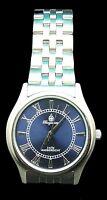 Burgmeister silber-blau Edelstahl Herren Armbanduhr BM401 -131 **NEU** watch