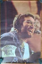 Vintage Original 1970 John Lennon People For Peace Poster 38x25
