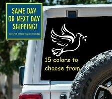 9 Size Dove of Peace Olive Branch Car Window Decal Sticker Macbook Laptop Tablet