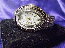 Woman's Quartz Cuff  Watch  with Oversized Bezel **Nice** B109-NBx05