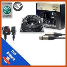 Combined UK Power XLR Signal Lead 15m Stagg X220UK/MC10 Cable Neutrik Connectors