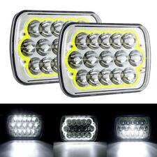 "Pair 7x6"" 5x7inch 45W 15LED Headlight Sealed Hi/Lo Beam Light for Toyota Hilux"