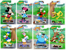 Lot 8 voitures Hot Wheels Mickey & Friends Disney Ensemble Complet.