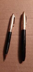 Vintage Sheaffer's 79 Black & Gold 14K Nib Pen & Pencil Set