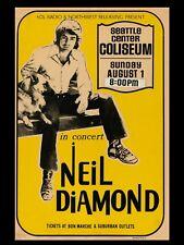 "NEIL DIAMOND SEATTLE 16"" x 12"" Reproduction Concert Poster Photo"