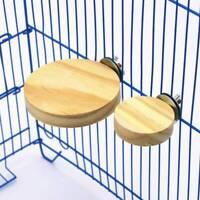 Round Wooden Parrot Bird Cage Perches Stand Platform Pet Budgie Platform Toy FM