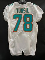 #78 LAREMY TUNSIL MIAMI DOLPHINS NIKE GAME USED WHITE JERSEY SZ-46 YR-2014