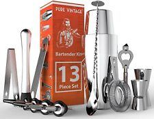 Bartender Kit with Cocktail Shaker - Stainless Steel Bar Kit Bar Set 13 Piece