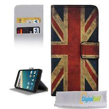 Custodia cover flip eco pelle bandiera UK con stand per Google Nexus 5X