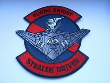 RAF/USAF squadron cloth patch  flying knights stealth driver