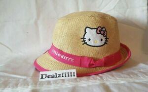 Hello Kitty ~  Fedora Beach Hat ~ Girls Size M/L ~ FAST SHIPPING!!