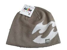 BILLABONG GHOST LADIES BROWN BEANIE HAT 100% ACRYLIC NEW
