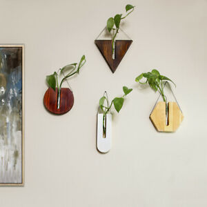Wooden Wall Decor,Wall Plant Hanger,Hanging Vase,Housewarming gift(Any 4 Shape)