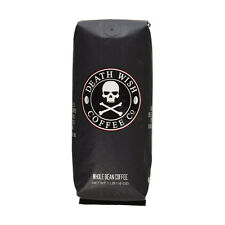 Death Wish ORGANIC BEAN COFFEE Smooth Flavor SUPER STRONG Blend HIGH QUALITY 1lb