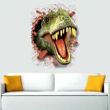 Wall 3d Cartoon Dinosaur Home Antistatic Sticker Decoration Through Paper