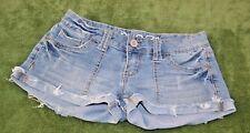 Womens size 1 - 2 Rue 21 Jean shorts distressed cotton blend denim