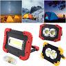 Portable COB LED Work Light Flood Lantern 30W Lamp USB Rechargeable Flashlight
