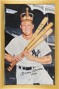 "Framed Mickey Mantle ""1956"" Triple Crown AUTOGRAPHED Poster (JSA)"