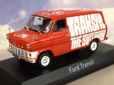 "NOREV 1/43 DIECAST RHD MK1 MKI 1965 FORD TRANSIT SUPER VAN ""THE SUPERVAN"" IN RED"