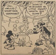 Mickey Mouse Daily Strip - Feb 6, 1931 - VERY RARE Early Floyd Gottfredson art