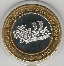 1997 Eldorado Hotel Casino Brew Brothers .999 Fine Silver $10 Casino Token